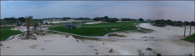 Vista general del campo de golf.